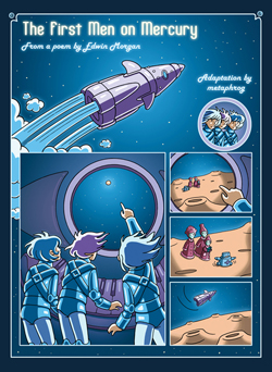 The First Men on Mercury comic by Metaphrog