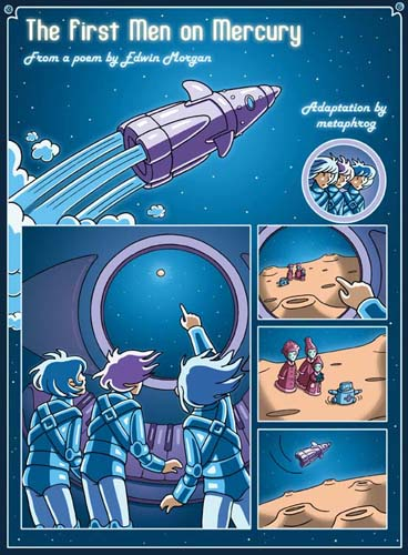 The First Men on Mercury comic by Metaphrog and Edwin Morgan