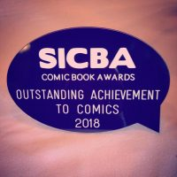 Winners of the SICBA awards Outstanding Achievement to Comics 2018