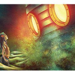 Illustration for The Little Mermaid graphic novel by Metaphrog